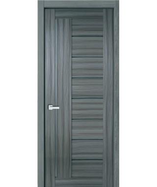 Дверь с ПВХ покрытием 17К (Филадельфия Дуб Графит, Стекло матовое)