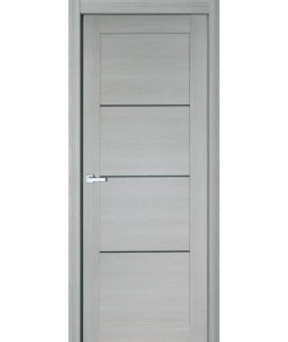 Дверь с ПВХ покрытием 18К (Дуб Грэй, Стекло матовое)