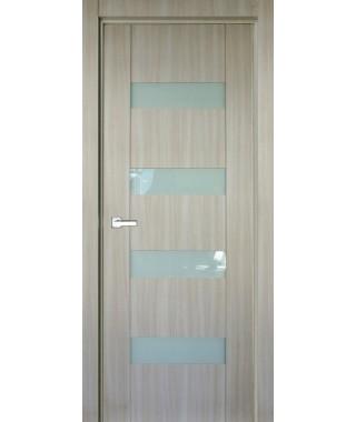 Дверь с ПВХ покрытием 22К (Филадельфия Дуб Мокко, Белый лакобель)