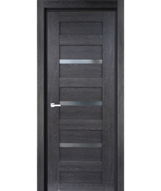 Дверь с ПВХ покрытием 27К (Филадельфия Дуб Графит, Стекло Графит)