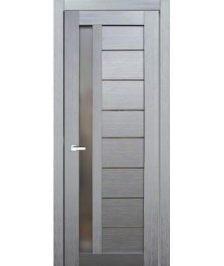 Дверь с ПВХ покрытием 37К (Сандал Серый, Стекло Графит)