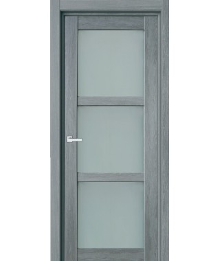 Дверь с ПВХ покрытием 40К (Сандал Серый, Стекло матовое)