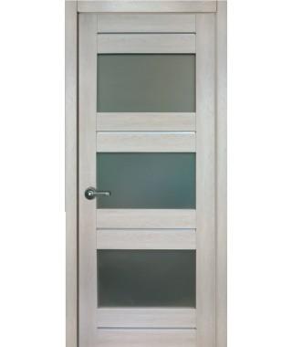 Дверь с ПВХ покрытием 42К (Филадельфия Дуб Мокко, Стекло матовое)