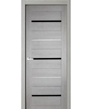 Дверь с ПВХ покрытием 51К (Филадельфия Дуб Грэй, Черный лакобель)