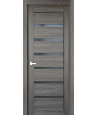 Дверь с ПВХ покрытием 71К (Филадельфия Дуб Графит, Стекло Графит)