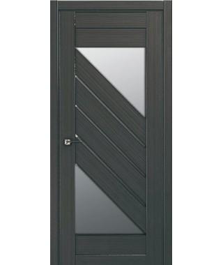 Дверь с ПВХ покрытием 80К (Графит, Стекло Матовое)