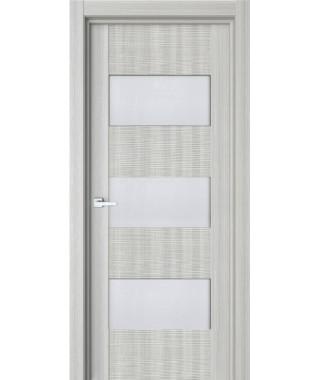Дверь с ПВХ покрытием 84К 3D (Дуб Грей, Стекло Матовое)
