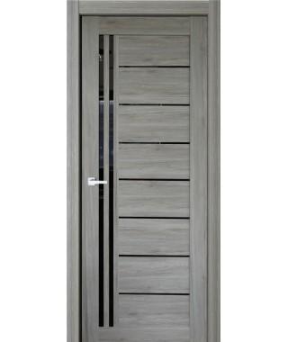 Дверь с ПВХ покрытием 88К (Филадельфия Дуб Грей, Черный лакобель)