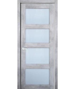 Дверь с ПВХ покрытием 9К (Бетон Светлый, матовое)