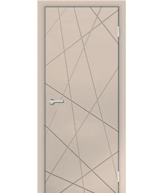 Дверь с ПВХ покрытием Абстракция (Софт Сантьяго)
