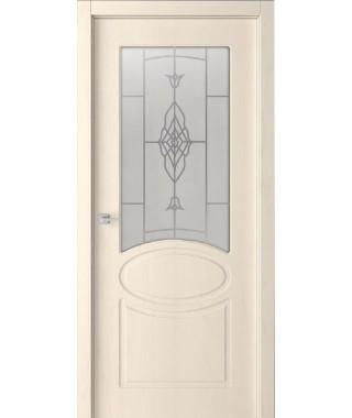 Дверь с ПВХ покрытием Алина ДО (Филадельфия Дуб Крем)