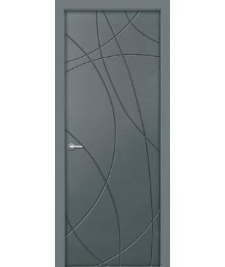 Дверь с ПВХ покрытием Арса (Бетон Темный)
