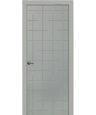 Дверь с ПВХ покрытием Авангард (Бетон Светлый)