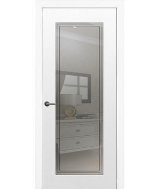 Дверь с ПВХ покрытием Бельви ДО (Софт Белый)