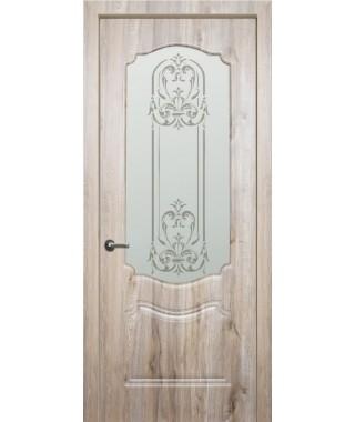 Дверь с ПВХ покрытием Богема ДО (Бомонт Какао)