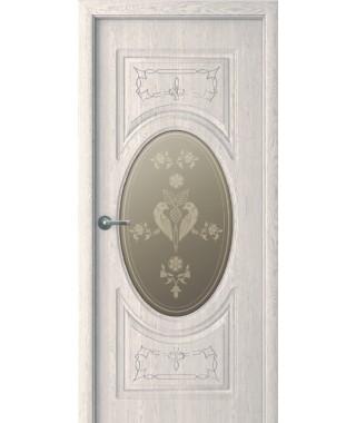 Дверь с ПВХ покрытием Гармония ДО (Филадельфия Дуб Мокко)