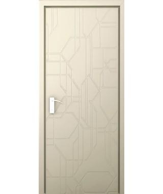 Дверь с ПВХ покрытием Гекса (Софт Джелато)