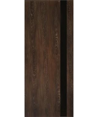 Дверь из экошпона Платинум П-3 Шале мореный (Черный лакобель)