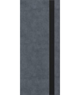Дверь из экошпона Платинум П-3 Бетон графит (Черный лакобель)