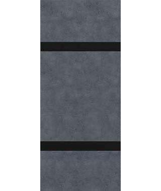 Дверь из экошпона Платинум П-4 Бетон графит (Черный лакобель)