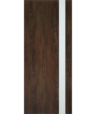 Дверь из экошпона Платинум П-5 Шале мореный (Белый лакобель)