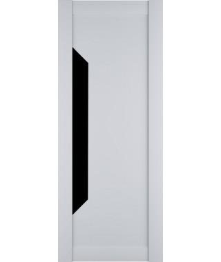 Дверь из экошпона Престиж 1 Белый софт (Черный лакобель)