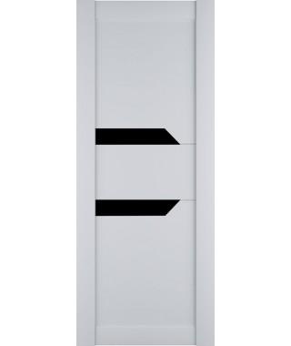 Дверь из экошпона Престиж 2 Белый софт (Черный лакобель)