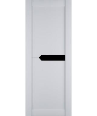 Дверь из экошпона Престиж 3 Белый софт (Черный лакобель)