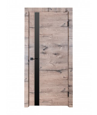 Дверь из экошпона ROYAL-2 Дуб Пацифика (Черный лакобель)