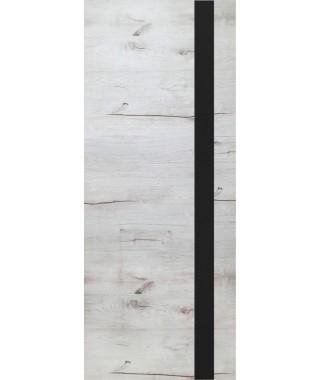 Дверь из экошпона ROYAL-2 Дуб Арктика (Черный лакобель)