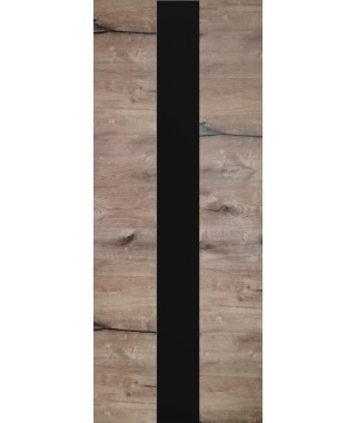 Дверь из экошпона ROYAL-3 Дуб Пацифика (Черный лакобель)