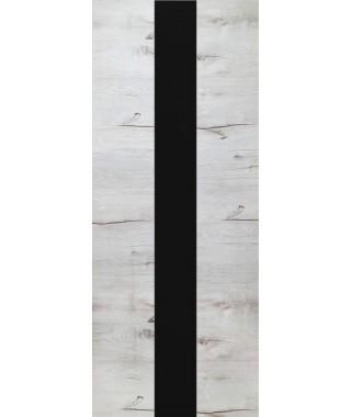Дверь из экошпона ROYAL-3 Дуб Арктика (Черный лакобель)