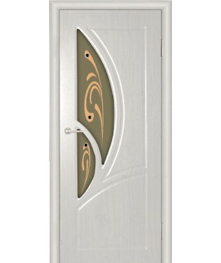 Дверь с ПВХ покрытием Валенсия ДО (Вуд Ясень Патина)