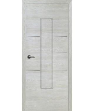 Дверь с ПВХ покрытием Валетта ДГ (Вяз Айс)