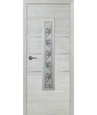 Дверь с ПВХ покрытием Валетта ДО (Вяз Айс)