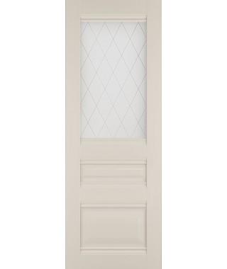 Дверь из экошпона Венеция -2 Магнолия (Наливной витраж)