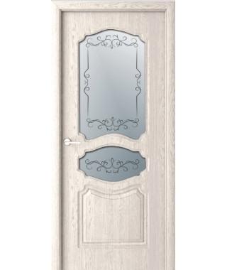 Дверь с ПВХ покрытием Виктория ДО (Дуб Бежевый)