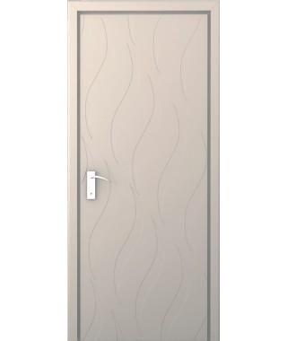 Дверь с ПВХ покрытием Волна (Софт Светлый)