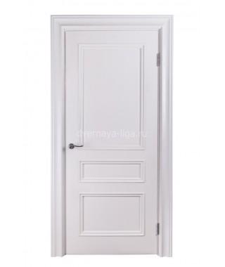 Дверь из шпона Барселона ДГ резной багет (Белый ясень)