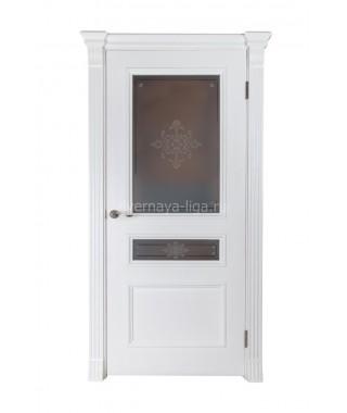 Дверь из шпона Барселона ДО (Белый ясень)