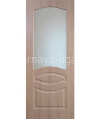 Дверь с ПВХ покрытием Леона ДО (Дуб классик)
