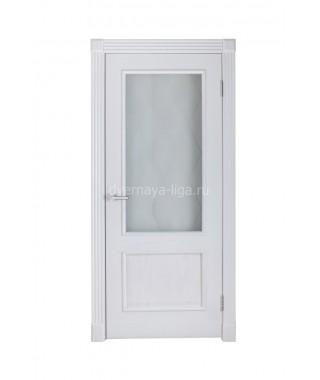 Дверь из шпона Палермо ДО (Белый ясень)