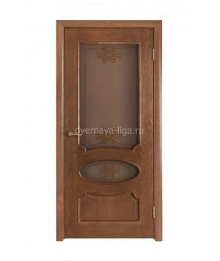 Дверь из шпона Виктория ДО (Дуб виски)