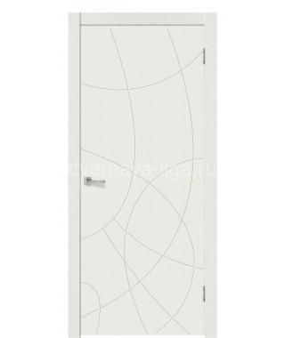 Дверь с ПВХ покрытием Иллюзия (Софт белый)