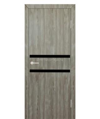 Дверь с ПВХ покрытием Лайт 2 (Серое дерево)