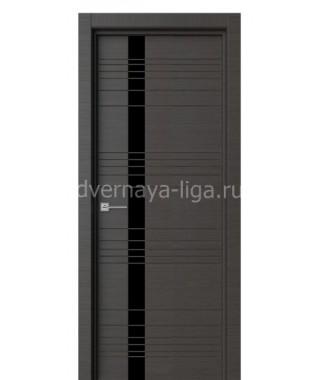 Дверь с ПВХ покрытием Лайт с фрезой (Графит)
