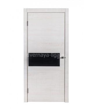 Дверь с ПВХ покрытием Омега Лайн (Манзория белая)