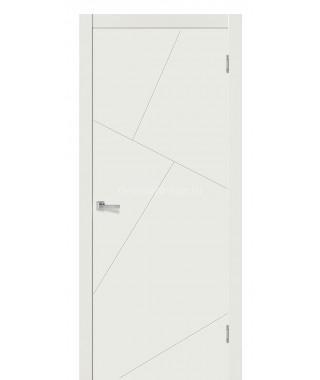 Дверь с ПВХ покрытием Прима (Софт белый)