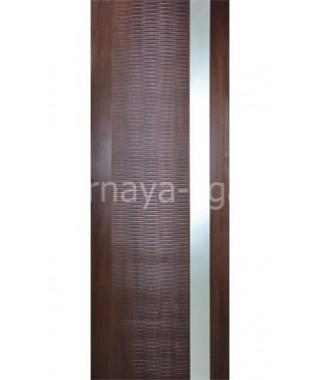 Дверь с ПВХ покрытием Палермо (Венге 3D)