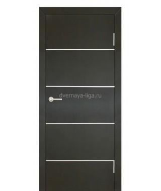 Дверь с ПВХ покрытием Стелла 5 (Венге)